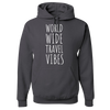 Travel Themed Hoodie: Worldwide Travel Vibes Gray