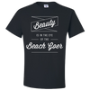 Travel Quote T-Shirt Beach Goer Black