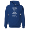 Travel Themed Hoodie: Ride or Fly Chick Royal Blue