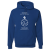 Travel Themed Hoodie: Tourist vs Traveler Hoodie White Words Royal Blue