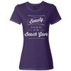 Travel Quote T Shirt Beach Goer Ladies Purple