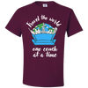 Travel Quote T-Shirt One Couch at a Time White Writing Maroon