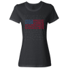 Travel Themed T-Shirt: Travel Flag Ladies Black