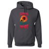 Travel Themed Hoodie: Sunburn Sunset Repeat Dark Gray