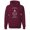 Travel Themed Hoodie: Tourist vs Traveler Hoodie White Words Maroon