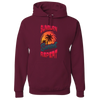 Travel Themed Hoodie: Sunburn Sunset Repeat Maroon