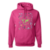 Travel Themed Hoodie: Iconic Places Pink