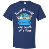 Travel Quote T-Shirt One Couch at a Time White Writing Royal Blue
