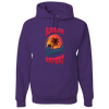Travel Themed Hoodie: Sunburn Sunset Repeat Purple