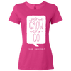 Travel Themed T-Shirt: Wont Grow Until You Go Ladies Pink