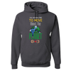Travel Themed Hoodie: Free to Move About the Planet Dark Gray