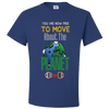 Travel Themed T-Shirt: Free to Move About the Planet Royal Blue