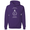 Travel Themed Hoodie: Tourist vs Traveler Hoodie White Words Purple