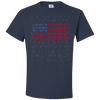 Travel Themed T-Shirt: Travel Flag Navy Blue