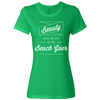 Travel Quote T-Shirt Beach Goer Ladies Light Green