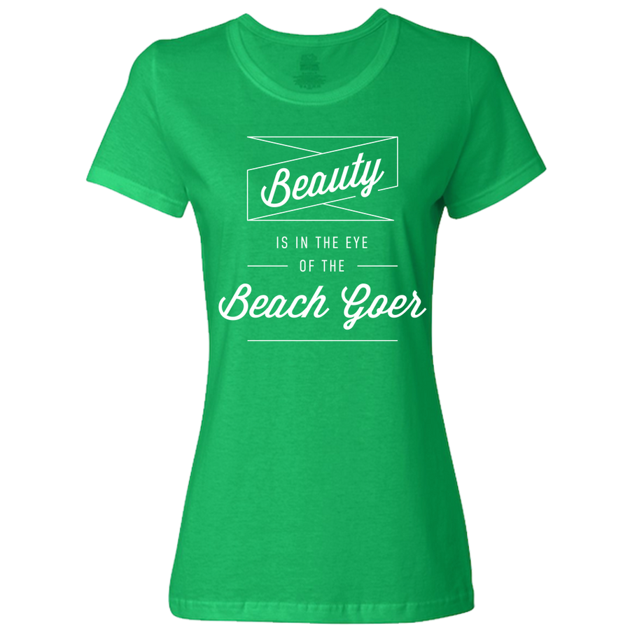 Travel Quote T Shirt Beach Goer Ladies Royal Blue