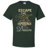 Travel Themed T Shirt: Escape the Routine Green