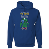 Travel Themed Hoodie: Free to Move About the Planet Royal Blue