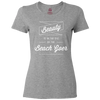 Travel Quote T-Shirt Beach Goer Ladies Gray