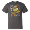Travel Themed T Shirt: Stamp Collector Dark Gray