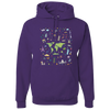 Travel Themed Hoodie: Iconic Places Purple