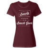 Travel Quote T-Shirt Beach Goer Ladies Maroon