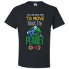 Travel Themed T-Shirt: Free to Move About the Planet Black