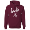 Travel Themed Hoodie: Travelin' Vibes Maroon