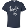 Travel Themed T-Shirt: Travelin' Vibes Navy Blue