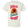 Travel Themed T-Shirt: Sunburn Sunset Repeat