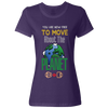 Travel Themed T-Shirt: Free to Move About the Planet Ladies Purple