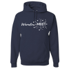 Travel Themed Hoodie: Wander-MUST Navy Blue