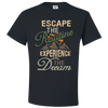 Travel Themed T Shirt: Escape the Routine Black