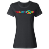 Travel Themed T-Shirt: Travels R Us Ladies Black