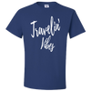 Travel Themed T-Shirt: Travelin' Vibes Royal Blue