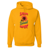 Travel Themed Hoodie: Sunburn Sunset Repeat Yellow