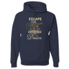 Travel Themed Hoodie: Escape the Routine Navy Blue