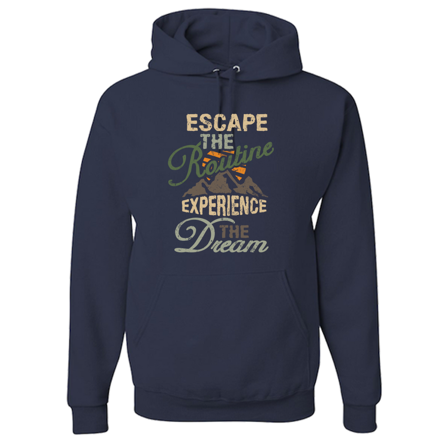 Travel Themed Hoodie: Escape the Routine Green