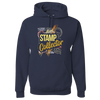 Travel Themed Hoodie: Stamp Collector Navy Blue