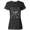 Travel Themed T Shirt: Iconic Places Ladies Black