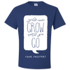 Travel Themed T-Shirt: Wont Grow Until You Go Royal Blue