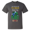 Travel Themed T-Shirt: Free to Move About the Planet Dark Gray