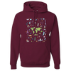Travel Themed Hoodie: Iconic Places Maroon