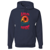 Travel Themed Hoodie: Sunburn Sunset Repeat Navy Blue