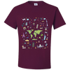 Travel Themed T Shirt: Iconic Places Maroon