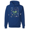 Travel Themed Hoodie: Iconic Places Royal Blue