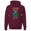 Travel Themed Hoodie: Free to Move About the Planet Maroon