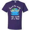Travel Quote T-Shirt One Couch at a Time White Writing Purple