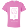 Travel Themed T-Shirt: Wont Grow Until You Go Pink