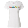 Travel Themed T-Shirt: Travels R Us Ladies White